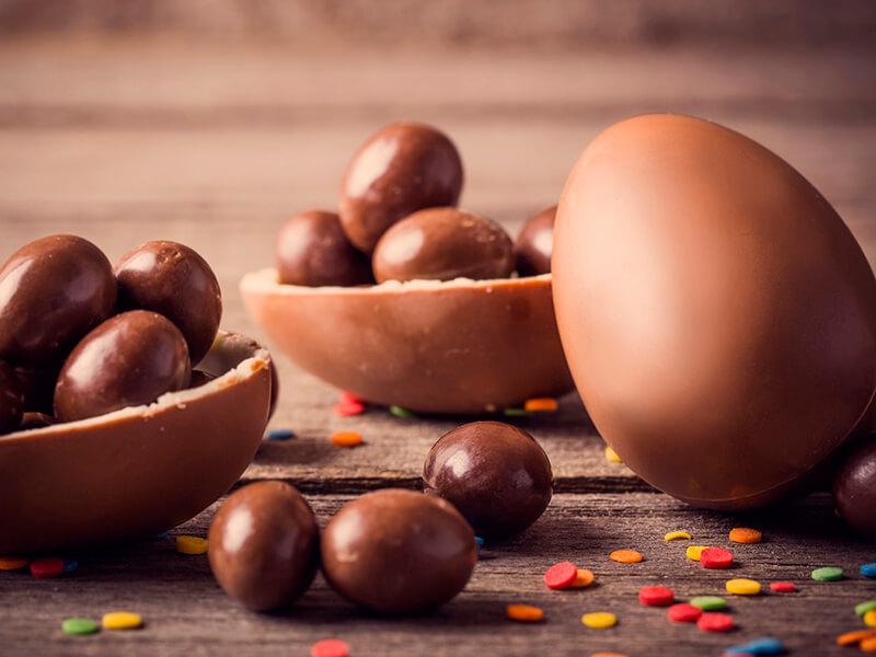 Ovos de Páscoa ao Leite Tradicionais